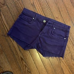 Blank NYC purple denim shorts!